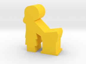 Lady Speaker meeple, side in Yellow Processed Versatile Plastic