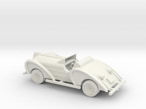 O Scale Antique Car in White Natural Versatile Plastic