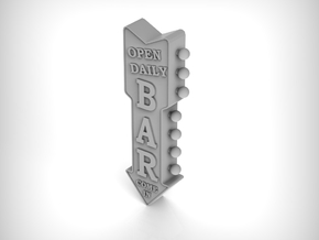 Wall Sign 01. 1:35 Scale in Smooth Fine Detail Plastic