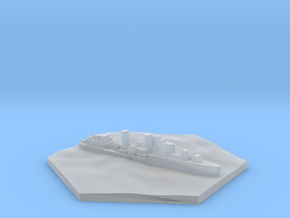 UK Destroyer WW2 warship hex counter in Smooth Fine Detail Plastic