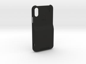 iPhone XS LooplyCase™ with RileyLink Inlay in Black Natural Versatile Plastic