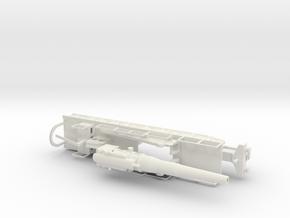 Obusier de 370 modèle 1915 1/76 french ww1 railway in White Natural Versatile Plastic