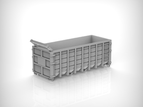 Steel Waste Container 01. 1:72 Scale  in White Natural Versatile Plastic