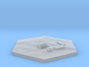 Farm terrain hex tile counter in Smooth Fine Detail Plastic