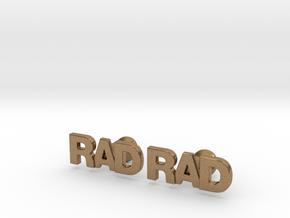 Monogram Cufflinks RAD in Natural Brass