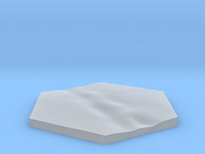 River terrain hex tile counter in Smooth Fine Detail Plastic