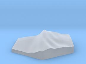 Shoreline diagonal terrain hex tile counter in Smooth Fine Detail Plastic