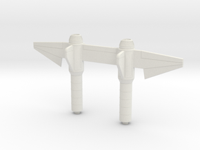 1/72 Twin Tail X Wing Back Hull in White Natural Versatile Plastic