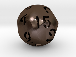 Hollow d15 in Polished Bronze Steel