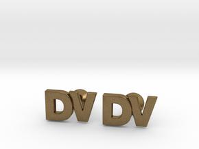 Monogram Cufflinks DV in Natural Bronze