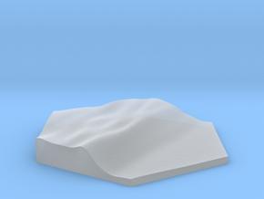 Shoreline terrain hex tile counter in Smooth Fine Detail Plastic