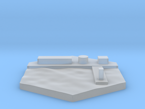Wharf terrain hex tile counter in Smooth Fine Detail Plastic