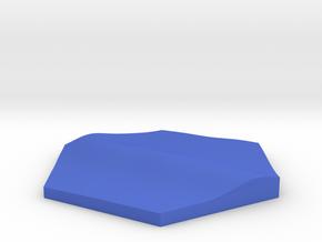 Surf break terrain hex tile counter in Blue Processed Versatile Plastic
