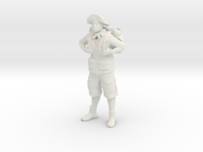 Printle V Homme 123 - 1/32 - wob in White Natural Versatile Plastic