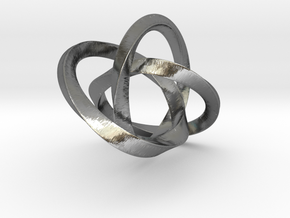 mobius trinity in Polished Silver (Interlocking Parts)