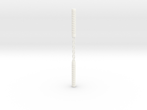 Ninja Nunchak in White Processed Versatile Plastic