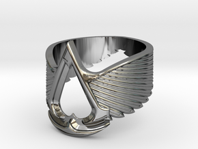 AC ring Master Custom (big version) in Premium Silver