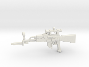 Sniper Rifle AK47 v3 in White Natural Versatile Plastic