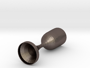 Converging Diverging Nozzle in Polished Bronzed Silver Steel