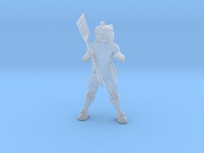 Burger Warrior DnD fantasy miniature games rpg in Smooth Fine Detail Plastic