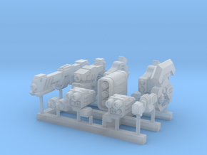Animestyle mech weapon set2 in Smooth Fine Detail Plastic
