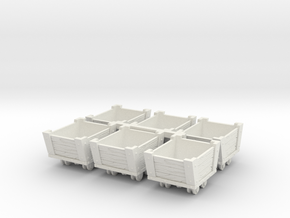 HO Scale Ore Cars in White Natural Versatile Plastic