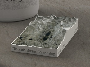 Titcomb Valley, Wyoming, USA, 1:100000 in Natural Full Color Sandstone