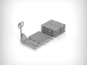 Pallet jack 01. 1:72 Scale  in Smooth Fine Detail Plastic