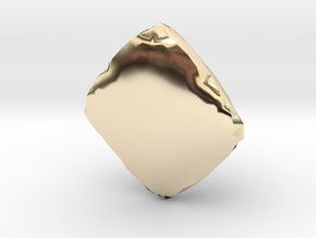 Pyramid Capstone INGOT in 14K Yellow Gold