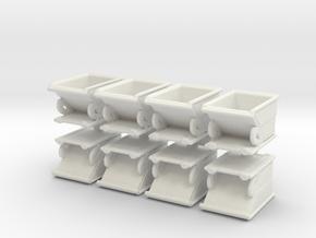 Forklift Dumpster (x8) 1/120 in White Natural Versatile Plastic