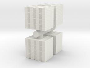Concrete Bricks Pile (x4) 1/87 in White Natural Versatile Plastic
