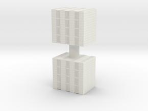 Concrete Bricks Pile (x2) 1/64 in White Natural Versatile Plastic