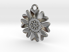 Lotus Pendant in Polished Silver