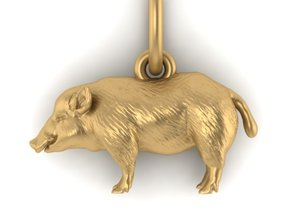 Hog pendant in White Natural Versatile Plastic