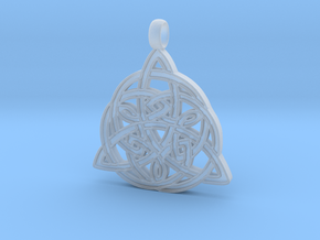 Knotwork Triquetra pendant in Smoothest Fine Detail Plastic