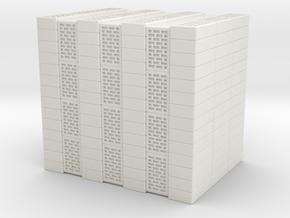 Concrete Bricks Pile 1/48 in White Natural Versatile Plastic