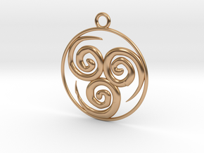 Wind Pendant in Polished Bronze