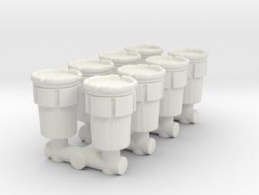 Hazmat Salvage Drum (x8) 1/120 in White Natural Versatile Plastic
