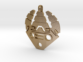 Stone Bohrok Pendent in Polished Gold Steel