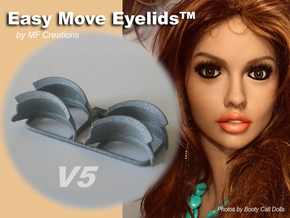 Easy Move Eyelids™ V5-2pair in Gray PA12