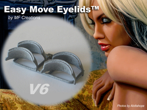 Easy Move Eyelids™ V6-2pair in Gray PA12