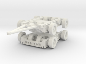 Culemeyer Trailer 2 axis (x2) 1/64 in White Natural Versatile Plastic