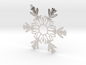 Celia metal snowflake ornament in Rhodium Plated Brass
