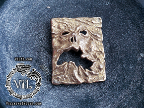 NECRONOMICON Evil Dead 2 Pendant ⛧ VIL ⛧ in Polished Bronzed-Silver Steel: Small