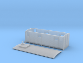 F2a - Swedish train heating wagon in Smooth Fine Detail Plastic