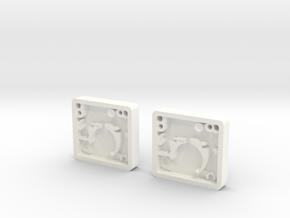 Pair of Blaster Stock Center Greeble in White Processed Versatile Plastic