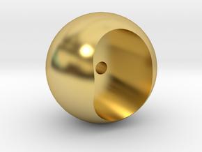 Ball Pommel in Polished Brass