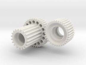 Super speed tuned gear set for Tamiya TL-01 - MO45 in White Natural Versatile Plastic