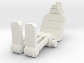 Marine Heavy Weapons Seat in White Natural Versatile Plastic