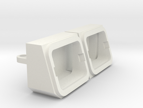 Tamiya YJ Light buckets for MyTrickRC Attack leds in White Natural Versatile Plastic